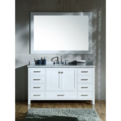 Marine 61 Single Bathroom Vanity Set Base Finish: White