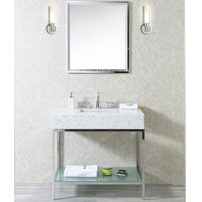 Malvina 36 Single Bathroom Vanity Set with Mirror