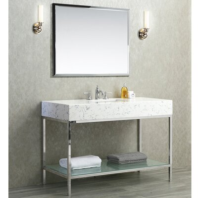 Malvina 48 Single Bathroom Vanity Set with Mirror