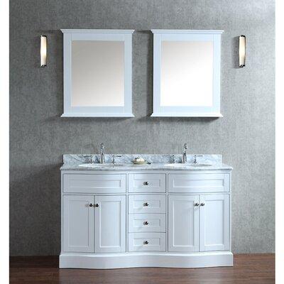 Kaminsky 60 Double Bathroom Vanity Set with Mirror