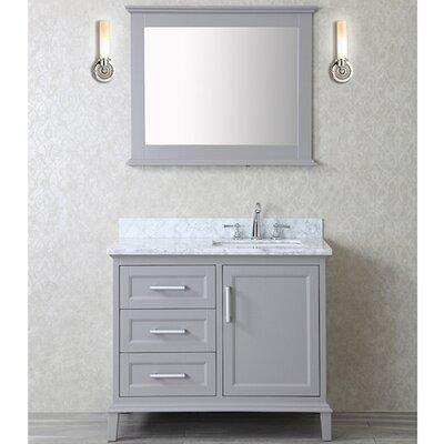 Denice 42 Single Bathroom Vanity Set with Mirror