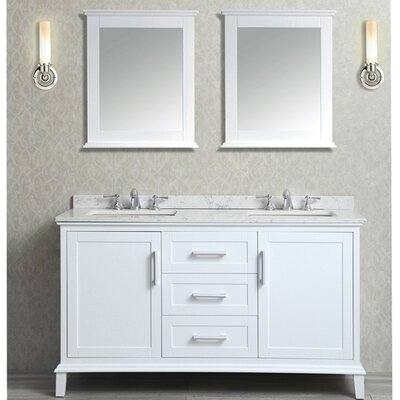 Denice 60 Double Bathroom Vanity Set with Mirror