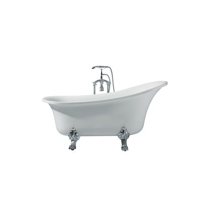 Isabella Platinum Oval 63 x 27 Freestanding Soaking Bathtub