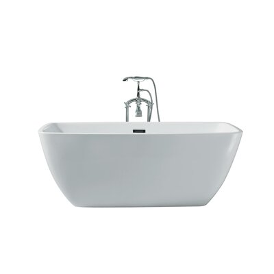 Aurora Platinum Rectangle 63 x 30 Freestanding Soaking Bathtub