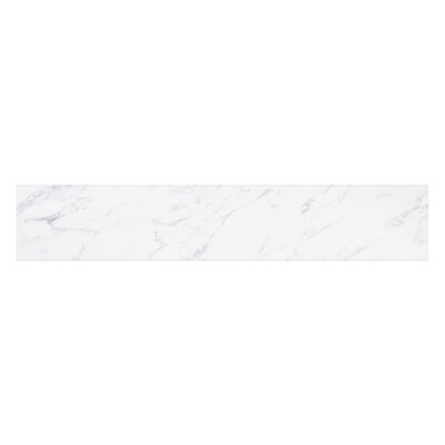 Ariel Vanity Top Sidesplash Finish: Carrara White