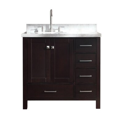 Utley Modern 37 Single Bathroom Vanity Set Base Finish: Espresso