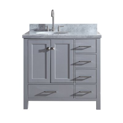 Utley Modern 37 Single Bathroom Vanity Set Base Finish: Gray