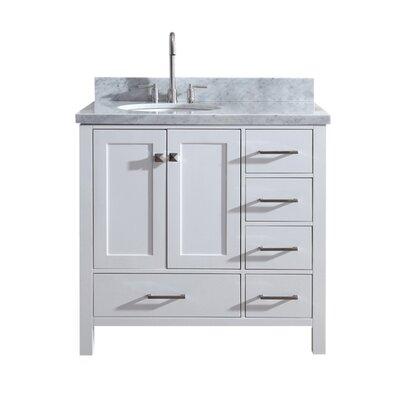 Utley Modern 37 Single Bathroom Vanity Set Base Finish: White