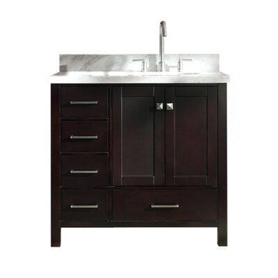 Utley 37 Single Bathroom Vanity Set Base Finish: Espresso
