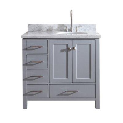 Utley 37 Single Bathroom Vanity Set Base Finish: Gray