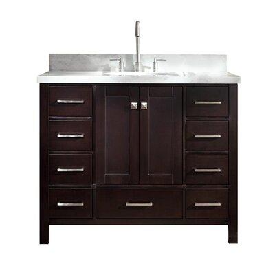 Utley Modern 43 Single Bathroom Vanity Set Base Finish: Espresso