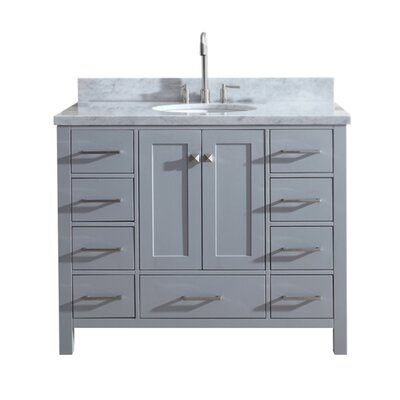 Utley Modern 43 Single Bathroom Vanity Set Base Finish: Gray