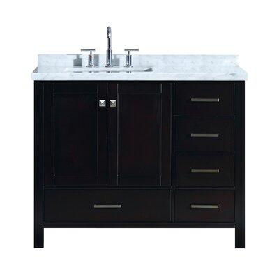 Utley 43 Wood Base Single Bathroom Vanity Set Base Finish: Espresso