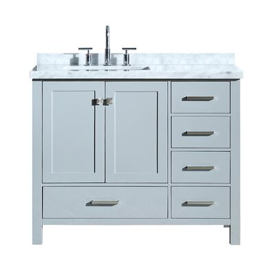 Utley 43 Wood Base Single Bathroom Vanity Set Base Finish: Gray
