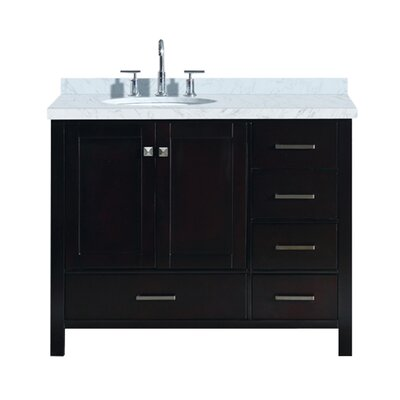 Utley Modern 43 Rectangular Single Bathroom Vanity Set Base Finish: Espresso