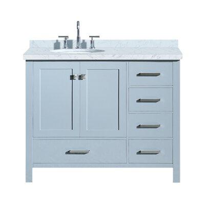 Utley Modern 43 Rectangular Single Bathroom Vanity Set Base Finish: Gray