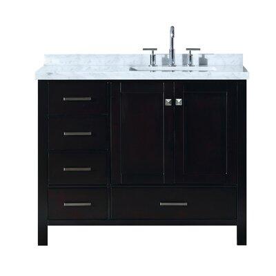 Utley 43 Rectangular Single Bathroom Vanity Set Base Finish: Espresso