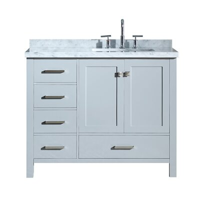 Utley 43 Rectangular Single Bathroom Vanity Set Base Finish: Gray