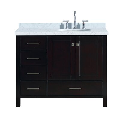 Utley 43 Single Bathroom Vanity Set Base Finish: Espresso