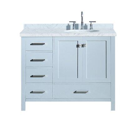 Utley 43 Single Bathroom Vanity Set Base Finish: Gray