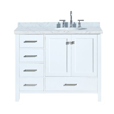 Utley 43 Single Bathroom Vanity Set Base Finish: White