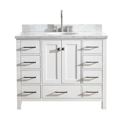 Utley Modern 43 Single Bathroom Vanity Set Base Finish: White