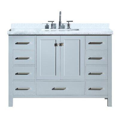 Utley Modern 49 Single Bathroom Vanity Set Base Finish: Gray