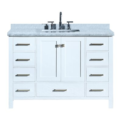 Utley Modern 49 Single Bathroom Vanity Set Base Finish: White