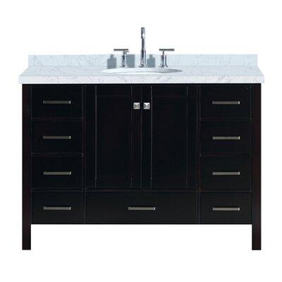 Utley 49 Single Bathroom Vanity Set Base Finish: Espresso