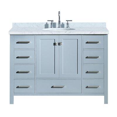 Utley 49 Single Bathroom Vanity Set Base Finish: Gray