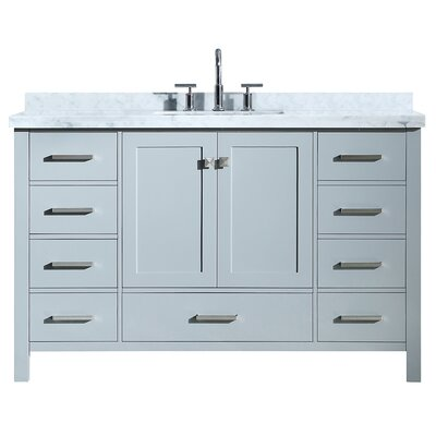Utley Modern 55 Single Bathroom Vanity Set Base Finish: Gray