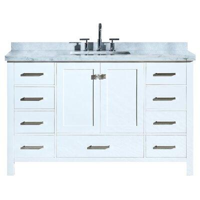 Utley Modern 55 Single Bathroom Vanity Set Base Finish: White