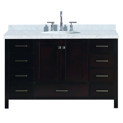Utley 55 Single Bathroom Vanity Set Base Finish: Espresso