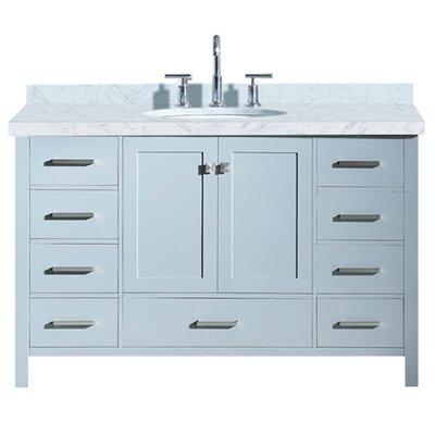 Utley 55 Single Bathroom Vanity Set Base Finish: Gray