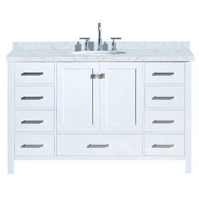 Utley 55 Single Bathroom Vanity Set Base Finish: White