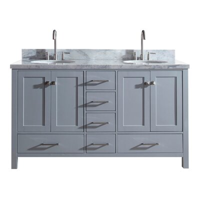 Utley 61 Double Bathroom Vanity Set Base Finish: Gray