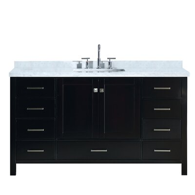Utley Modern 61 Single Bathroom Vanity Set Base Finish: Espresso