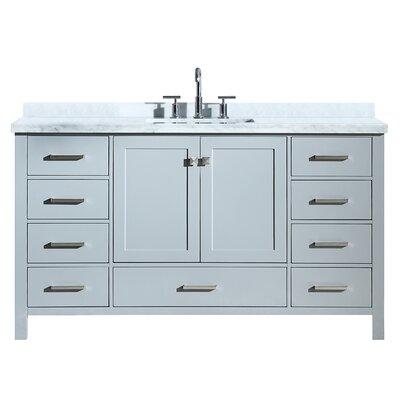 Utley Modern 61 Single Bathroom Vanity Set Base Finish: Gray