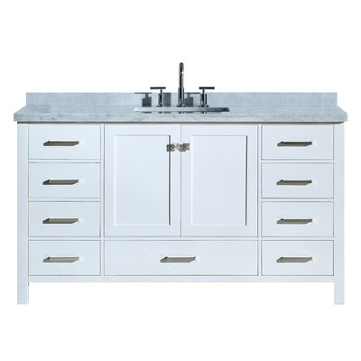 Utley Modern 61 Single Bathroom Vanity Set Base Finish: White