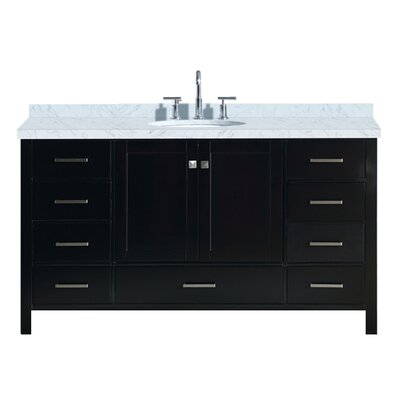 Utley 61 Single Bathroom Vanity Set Base Finish: Espresso