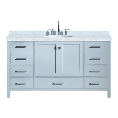 Utley 61 Single Bathroom Vanity Set Base Finish: Gray