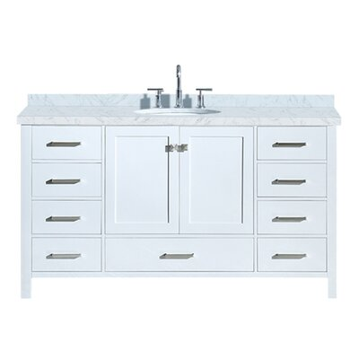 Utley 61 Single Bathroom Vanity Set Base Finish: White