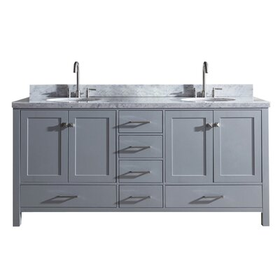 Utley 73 Double Bathroom Vanity Set Base Finish: Gray