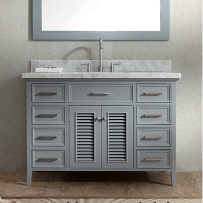Hamil 49 Single Bathroom Vanity Set Base Finish: Gray