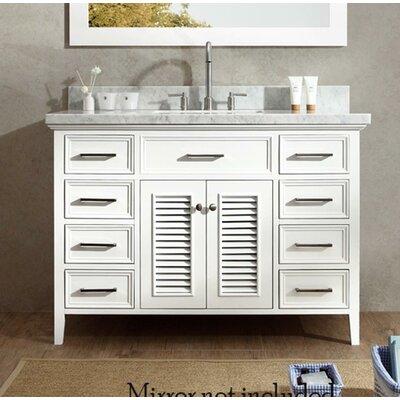 Hamil 49 Single Bathroom Vanity Set Base Finish: White