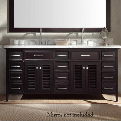 Hamil Modern 73 Double Bathroom Vanity Set Base Finish: Espresso