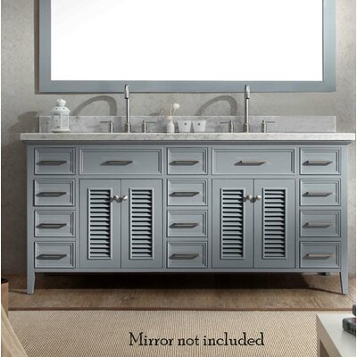 Hamil Modern 73 Double Bathroom Vanity Set Base Finish: Gray