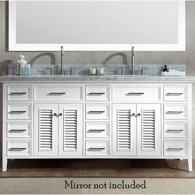 Hamil Modern 73 Double Bathroom Vanity Set Base Finish: White