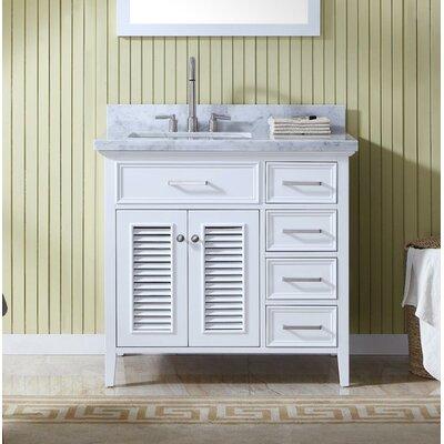 Hamil Modern 37 Single Bathroom Vanity Set Base Finish: White