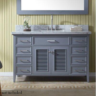 Hamil 55 Single Bathroom Vanity Set Base Finish: Gray